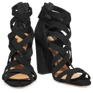 SCHUTZ Strappy Black Sandals
